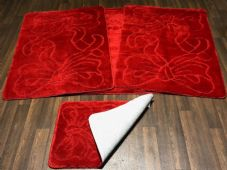 ROMANY WASHABLES NEW FOR 2018 SUPER THICK BOW CHRISTMAS RED SET OF 4 NON SLIP